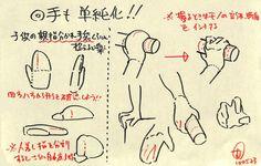 ◯手も単純化!! ・親指分かれ手袋くらい単純に捉える ・次に人差し指も分ける ・他3本は機能がにているのでひとまとめ 鉛筆、箸その他多くの動作で確認するとわかります。 例えば拳を握った時、人差し指だけ他の三本からズレます。