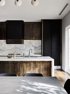 """Melbourne Residential Project designed by Flack Studio ~ kitchen interior decoration design inspiration styling photography White Interior Design, Home Interior, Interior Design Kitchen, Marble Interior, Luxury Interior, Küchen Design, Home Design, Design Ideas, Design Projects"