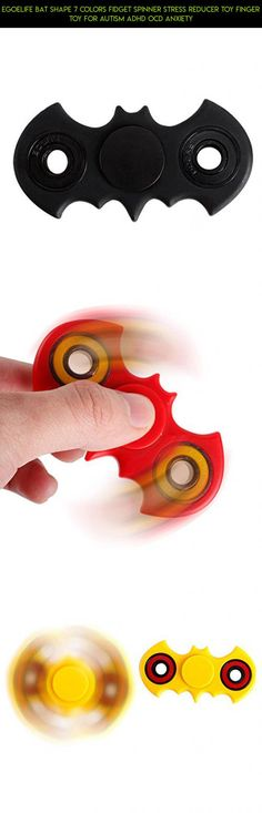 Egoelife Bat Shape 7 Colors Fidget Spinner Stress Reducer Toy Finger Toy for Autism ADHD OCD Anxiety #drone #products #spinner #camera #plans #racing #bat #kit #metal #gadgets #tech #technology #shopping #fpv #parts
