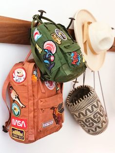 Children Patches + DIY Backpack Related posts: DIY Tutorial Rolltop Backpack with Spoonflower Fabric Customizable wildflower hand embroidered fjallraven kanken backpack Choly Knight Mochila Kanken, Mochila Kpop, Diy Mochila, Patches Diy, Pin And Patches, Backpack With Patches, Backpack With Pins, Iron Patches, Backpacker