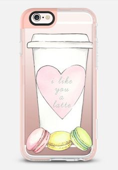 I LIKE YOU A LATTE / Macaroons (Transparent) iPhone 6s case by Ylfa Grönvold Illustrations | Casetify