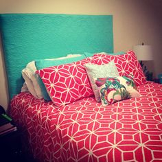 trina turk bedding and diy headboard made from trina turk bedding - Trina Turk Bedding