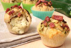 Muffin alle Zucchine con Stracchino e Pancetta