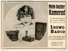 Original-Werbung/Inserat/ Anzeige 1928 - 1/2-SEITE - LOEWE RADIO - ca. 110 X 145 mm