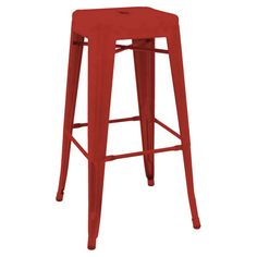 Caleb Stool in Red  at Joss and Main
