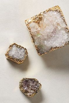 weloveminerals:  Found on anthropologie.com  Crystalline Paperweight