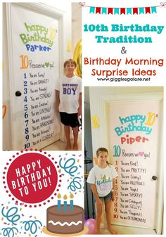 Fun 10th Birthday Tradition Morning Surprise Ideas To Help You Celebrate Double Digits Birthdayidea Birthdaytraditions