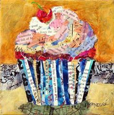 Selvage Blog: Cupcake Collage This is awesome! This would make a wonderful quilt block.