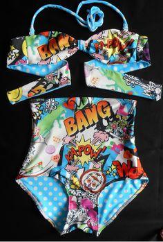 High Waist Bikini bottom Pop Art Print by mclaineo on Etsy, $49.00