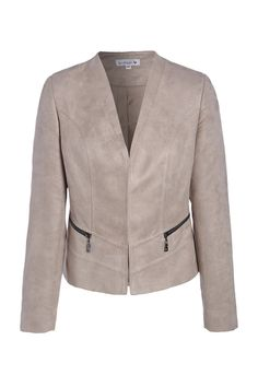 d9d605f08a1 Veste courte poches zippée suédine - Femme - Veste - Scottage