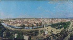 CÓRDOBA EN EL AÑO 1895. Por Horacio Mossi. Óleo sobre tela.