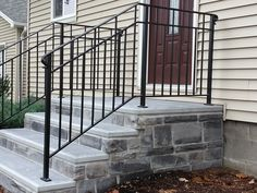 Flagg-Palmer Precast is New England's leading maker of concrete products for homes and businesses. Front Porch Steps, Front Stairs, Patio Steps, Outdoor Steps, Front Porch Design, Front Doors, Brick Steps, Concrete Steps, Precast Concrete