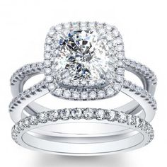 Split Shank PaveDouble Halo Engagement Ring Found the absolute perfect ring! If Andrew asks ANY of you..this is it! Lol <3 Dreaming.