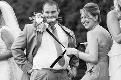 Talk about a funloving wedding!  | Wedding flowers by Bella Flowers.