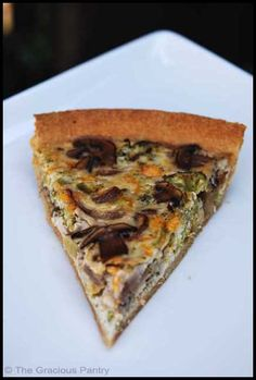 Clean Eating Broccoli Mushroom Quiche