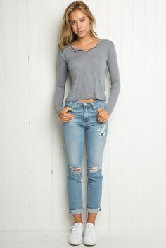 Brandy ♥ Melville | Dani Top - Tops - Clothing