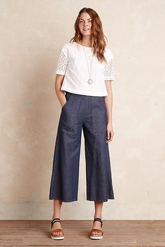 Anthropologie EU Brody Denim Culottes