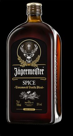 Jagermeister Spice was inspired by the original Jagermeister recipe of 56 differ. - Jagermeister Spice was inspired by the original Jagermeister recipe of 56 different herbs, blooms, - Cocktail Shots, Whiskey Cocktails, Tequila, Chartreuse Verte, Whiskey Bottle, Vodka Bottle, Grog, Crown Royal Drinks, Root Beer