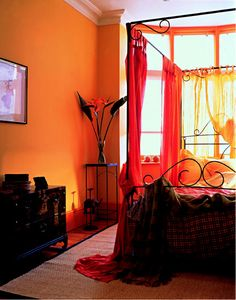 Insomnia. Wish I could sleep in here tomorrow. Love the red.