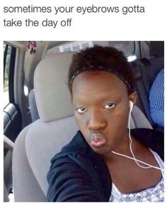 or she fart and has that smell tree int he back and her eyebrows died
