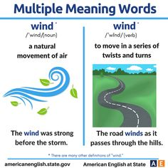 Multiple Meaning Words: Wind