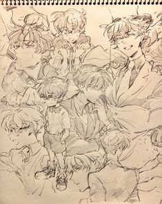 Anime Drawings Sketches, Anime Sketch, Cool Drawings, Manga Art, Anime Art, Arte Sketchbook, Cute Art Styles, Wow Art, Conan