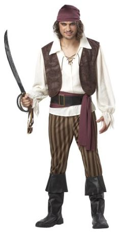 Amazon.com California Costumes Menu0027s Rogue Pirate Costume Clothing  sc 1 st  Pinterest & diy pirate costume   Mens Pirate Costumes   Adults Pirate Halloween ...