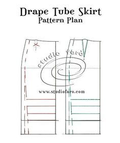 Make your own stretch skirt block. Tube Skirt, Dress Sewing Patterns, Sewing Projects For Beginners, How To Plan, How To Make, Sewing Crafts, Puzzle, Crochet Tutorials, Skirts