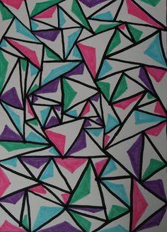 noflik nifelje: gekleurde driehoek ( 133e van 365 dagen )