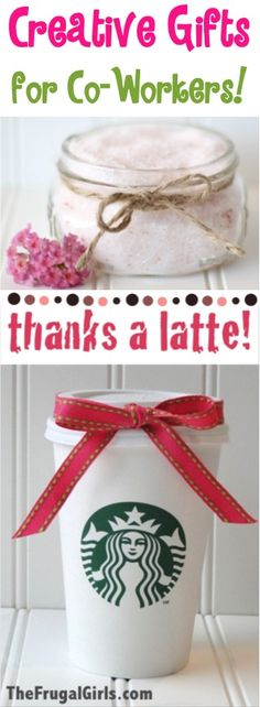BIG List of Creative Gift Ideas for Co-workers! ~ from TheFrugalGirls.com