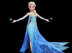 Elsa from Frozen.love the dress except the slit if it was longer it would be even better