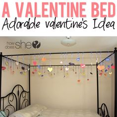 A Valentine Bed- cute for kids with a canopy