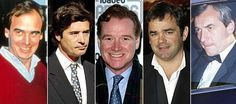 Diana's lovers (l-r): James Gilbey, Oliver Hoare, James Hewitt, Will Carling and Barry Mannakee