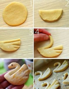 The 50 Best Practical Cooking Tips - Girls Tips Image discovered by Ania. Find images and videos about food, Cookies and tutorial on We Heart It - the app to get lost in what you love. Could use this for fondant swan Swan Dessert - Sugar Cookies or Puff P Cookie Recipes, Dessert Recipes, Bread Shaping, Tasty, Yummy Food, Food Humor, Creative Food, Sweet Recipes, Food To Make