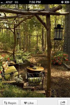 森の中の庭
