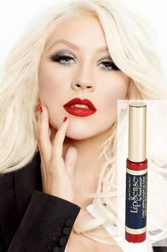 **WANT**You know that pretty Red Lip Christina Aguilera is always sporting? You can have it!! Even celebrities are jumping on the lipsense train!!