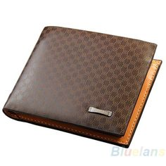 New Stylish Classical Men's PU Leather The Look Wallet Pockets Card Collector Bifold Purse Bag 02ND 4OGD