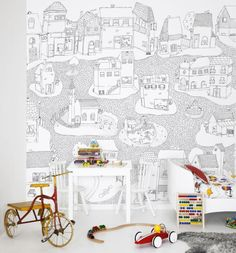 Joyville Photo Wallpaper from Mr Perswall by L. Pålemo in the wallpaper…