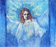 Vincent van Gogh - Angel (After Rembrandt) 1889