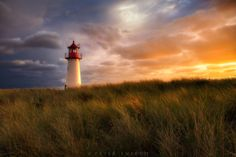 Sylt, Ellenbogen West - Want to know how I made this: See detailed how-to on my Facebook page:   https://www.facebook.com/ensrudphotography/  So....On a two week long visit to the area my goals were to capture many of the beautiful lighthouses along the North Sea in Germany and Denmark. This lovely lighthouse is on Sylt, a popular tourist destination, and getaway for wealthy Germans living in Hamburg, like the Hamptons for New Yorkers.   Beautiful coastline, and great place. I rented a bike…