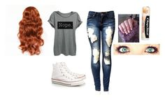 """""""Warped Tour outfit"""" by austeralia ❤ liked on Polyvore featuring Converse and Chapstick"""