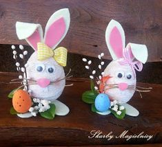 Skarby Magielnicy : Wielkanocne inspiracje - kolorowe zające Easter Egg Crafts, Easter Eggs, Diy Ostern, Easter Bunny Decorations, Quilling Designs, Egg Decorating, Christmas Crafts For Kids, Spring Crafts, Easter Baskets