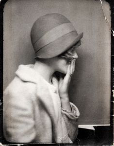old photo booth? love he cloche hat
