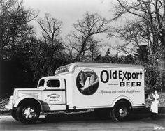 Old Export Beer - White truck.