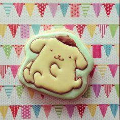 Trigo e cana - Handmade Icing Cookies - オーダー作品。 クマタン、ポムポムプリン、マイク&サリーとTED。