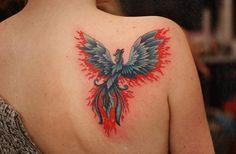 phoenix tattoo ideas for girls