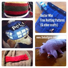 Free Doctor Who Knitting Patterns (and other crafts). I love the Tardis Beanie and the Starwhale. Sooooo cute!