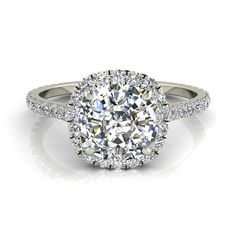 2.10 Carat Certifié Gia Coupe Ronde Anneau Fiançailles Diamant 18k Or Blanc Attractive Fashion Jewelry & Watches