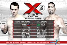 FEATURE BOUT: Welterweight Superfight Alexei Kunchenko 8-0 (RUS) vs. Will Galvao 4-1  (BR) - See more at: www.XFCMMA.com/XFCi9  #XFC #MMA #Superfight #Welterweight #SaoPaulo #Brazil March 14 #RedeTV #XFCi9