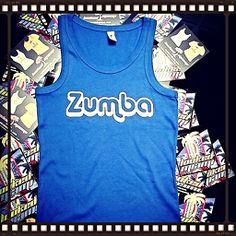 Si vous aimez la Zumba alors ce débardeur bleu modèle femme personnalisé est fait pour vous, commandé le sur notre boutique en ligne pour seulement 19€.